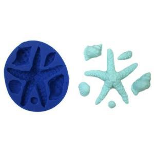 ヒトデ貝殻シリコンモールド サイズ約: 0.5?× 0.5インチ最小/ 4?X 3.5インチ(ヒトデ...