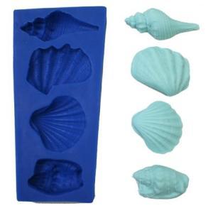 大きいシリコン貝殻型を4 サイズ約1.75?X 25?mm ( 1インチ) (最小) / 2.75?...