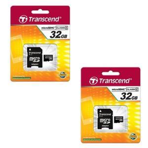 2?X 32?GB microSDHCメモリカードSDアダプタ付2パック :お届け予定日数:10日程...