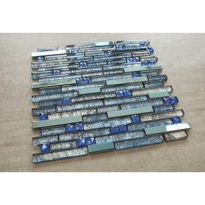 ブルーステンレススチール+ブルー(ダイヤモンド形状)ガラス+...