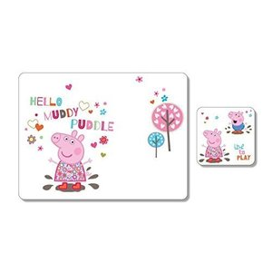 Portmeirion Peppa Pig Placemat And Coaster Pack Wh...