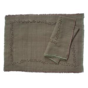 マット( 4枚セット) 13-inch-by-17-inch 100綿。khadi-handmade...