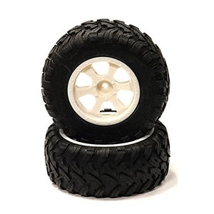 Integy RCモデルhop-ups c23950white All Terrain AXタイヤ+...