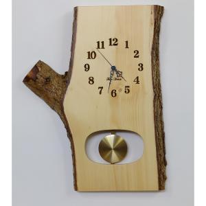 電波時計 銀杏(いちょう)板 振子 掛時計 [43cmサイズ] No.1009|twinheartspro