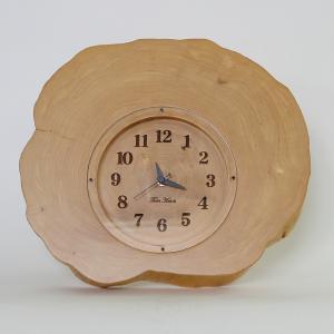 木製 電波時計 ホソバ 年輪 置時計 No.1046|twinheartspro