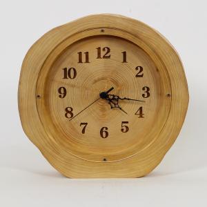木製 電波時計 ホソバ 年輪 置時計 No.1051|twinheartspro