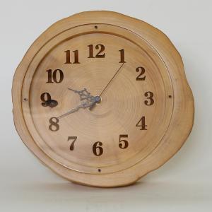 木製 電波時計 ホソバ 年輪 置時計 No.1048|twinheartspro