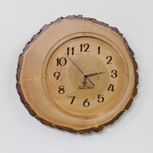 木製 電波時計 銀杏(いちょう)年輪 カバー付 [32cmサイズ] No.1033|twinheartspro
