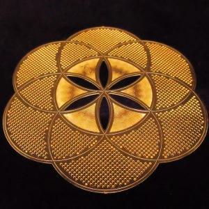 電磁スペクトルを表す幾何学模様のパワーで瞑想、浄化など様々なヒーリングをサポート エナジーカード「シードオブライフ(希望)」|twinkle-box