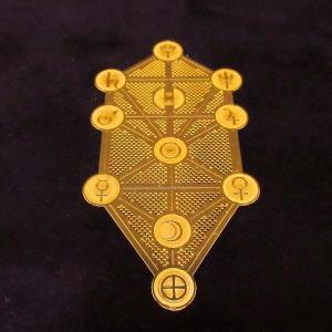 電磁スペクトルを表す幾何学模様のパワーで瞑想、浄化など様々なヒーリングをサポート エナジーカード「セフィロトの樹(創造)」|twinkle-box