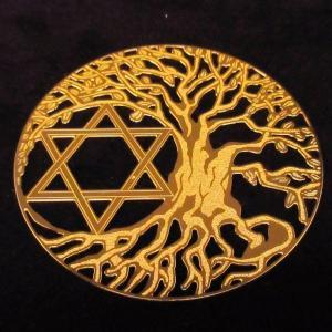 電磁スペクトルを表す幾何学模様のパワーで瞑想、浄化など様々なヒーリングをサポート エナジーカード「ツリーオブライフ&六芒星(調和)」|twinkle-box