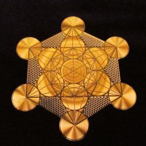 電磁スペクトルを表す幾何学模様のパワーで瞑想、浄化など様々なヒーリングをサポート エナジーカード「メタトロンキューブ(浄化)」|twinkle-box