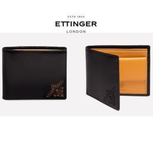 【 ETTINGER エッティンガー 】 最新モデル Brogue Billfold Wallet ...