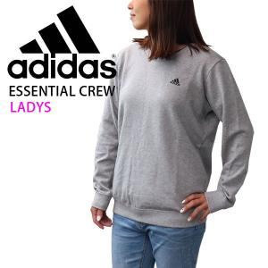 アディダス トレーナー グレー レディース adidas クルーネックスウェット ワンポイントロゴ ...