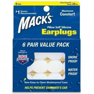 送料無料 シリコン耳栓 Macks Pillow Soft(マックスピローソフト) 6ペア イアプラグ 騒音対策に