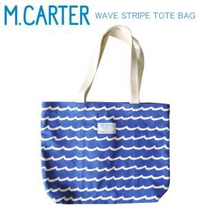 ■M.CARTER ミルトンカーター WAVE STRIPE TOTE -M- -Regatta B...