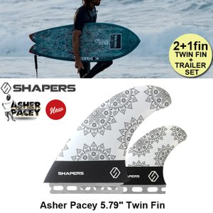 """■SHAPERS FIN ■Asher Pacey: 5.79"""" Twin Fin + option..."""