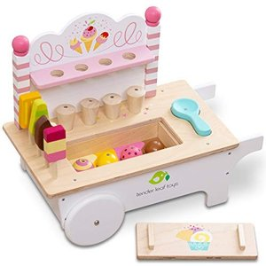 tender leaf toys 木製 アイスクリームカート 知育遊び かわいいイギリスデザイン ま...