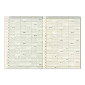 トラベラーズノート 手帳 リフィル 2020年 パスポートサイズ マンスリー 14411006 (2...