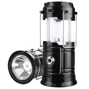 G-LUCK LED ランタン 懐中電灯 防滴 メタルライト 充電式 360度 引き出して自動点灯 ...