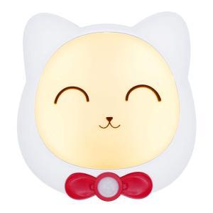 G-LUCK LEDナイトライト 人感&明暗センサーライト 足元灯 夜間ライト 猫型 タッチコントロ...