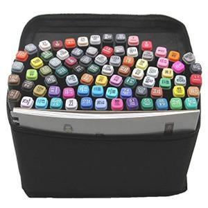L-JUWA マーカーペン コピックペン 80色セット スケッチブック付き 太細両端 塗り絵、描画、落書き、学習用 キャリングケース付き (80色+ス