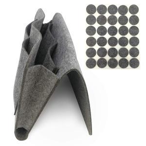 ベッドサイドポケット 羊毛フェルト製 家具保護パッド30個付き ソファサイドポケット こたつサイドポ...