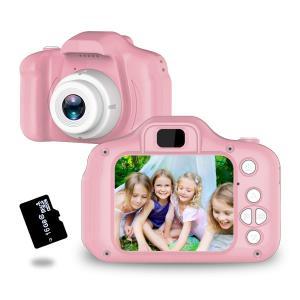 トイカメラ TANOKI キッズカメラ 子供用カメラ 800万画素 95g軽量 2.0インチIPS 4,500枚連続写真 日本語取扱説明書 16GBの画像