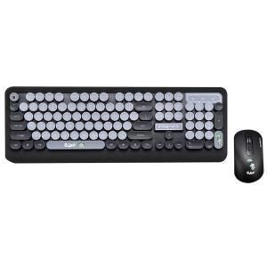 ワイヤレスキーボード, Veeki かわいい ミニ 超薄型防水 ワイヤレスキーボードとマウスセット ...