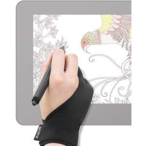 エレコム 液晶タブレット グローブ 2本指 手袋 Lサイズ 左利き右利き両用 TB-GV1L