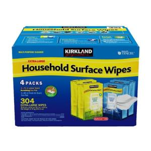 コストコ Costco ハウスホールドワイプ 4袋入り 掃除用 業務用 ウエットシート カークランド|tycoon