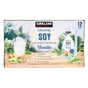 コストコ Costco カークランドシグネチャー 有機豆乳  バニラ味 946ml x 12パック  オーガニック 豆乳 タンパク|tycoon
