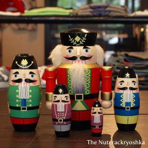 ナットクラッカーリョーシカ マトリョーシカ 人形 雑貨 くるみ割り人形|tycoon