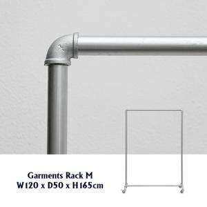 Garments Rack M ガーメンツラック ミディアム 幅120cm コートハンガー メンズ ガス管 ハンガーラック おしゃれ|tycoon