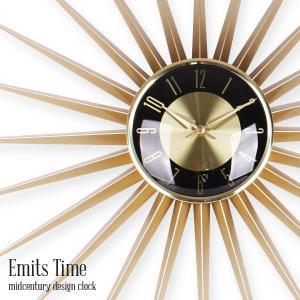 Emits Time エミッツタイム ミッドセンチュリー 時計 壁掛け 掛け時計 おしゃれ アンティーク 壁掛け時計 レトロ|tycoon