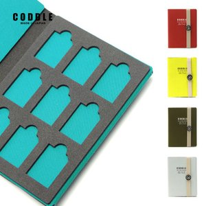 SDカードケース メモリーカードケース 9枚収納 旅行 持ち運び 日本製 CODDLE コドル +FABRIC SD CARD BOOK|tycoon