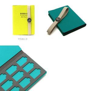 SDカードケース メモリーカードケース 9枚収納 旅行 持ち運び 日本製 CODDLE コドル +FABRIC SD CARD BOOK|tycoon|03
