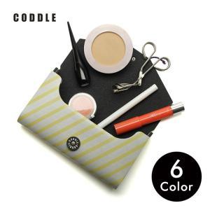 コスメポーチ 化粧ポーチ メイクケース 化粧道具 マチ 旅行 小物入れ 収納 日本製 CODDLE コドル +PAPER 15|tycoon