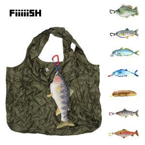 魚 釣り好き エコバッグ マイバッグ ぬいぐるみ キーホルダー FiiiiiSH FISH ECO BAG|tycoon
