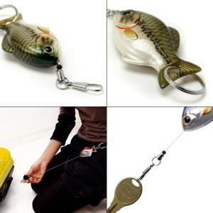 FiiiiiSH / FISH REEL フィッシュリール キーホルダー キーリング リール 鍵 伸びる カラビナ 魚 釣り ルアー|tycoon|04