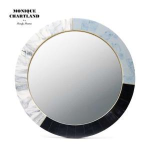 大理石風 鏡 ミラー 卓上 壁掛け 玄関鏡  丸形 円形 おしゃれ ウォールミラー Goody Grams MIRROR BADARINATH|tycoon