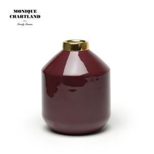 MONIQUE CHARTLAND / ENAMEL VASE 02 ドライフラワー用 フラワーベース 枝物 置物 オブジェ ドライフラワー おしゃれ かわいい 金属|tycoon