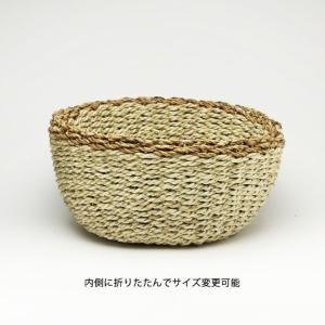 2WAY【Sサイズ】バスケット プランターカバー 鉢カバー かご おしゃれ 編み 洗濯物入れ  jute ROPE ROUND BASKET S tycoon 02