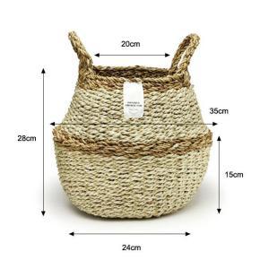 2WAY【Sサイズ】バスケット プランターカバー 鉢カバー かご おしゃれ 編み 洗濯物入れ  jute ROPE ROUND BASKET S tycoon 03