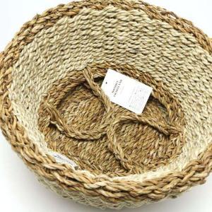 2WAY【Sサイズ】バスケット プランターカバー 鉢カバー かご おしゃれ 編み 洗濯物入れ  jute ROPE ROUND BASKET S tycoon 04