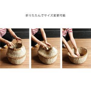 2WAY【Sサイズ】バスケット プランターカバー 鉢カバー かご おしゃれ 編み 洗濯物入れ  jute ROPE ROUND BASKET S tycoon 05
