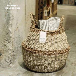 2WAY【Sサイズ】バスケット プランターカバー 鉢カバー かご おしゃれ 編み 洗濯物入れ  jute ROPE ROUND BASKET S tycoon 06