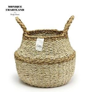 2WAY【Lサイズ】バスケット かご 鉢カバー おしゃれ 編み 収納 ランドリー 洗濯かご 大きい 荷物入れ ROPE ROUND BASKET L|tycoon