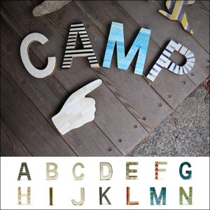 [A-N] オブジェ アルファベット イニシャル ディスプレイ パーツ 木製 骨 置物 英語 数字 動物 民芸品 切り文字|tycoon