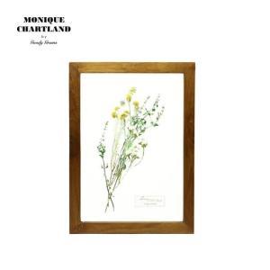アートフレーム ドライフラワー 額縁 額 アートポスター 木製 おしゃれ Goody Grams GLASS FRAME FLOWER YELLOW|tycoon